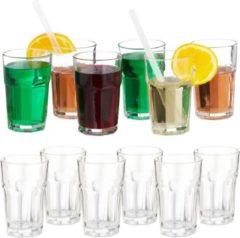 Relaxdays 12x waterglazen - 300 ml - kristallen waterglazen - drinkglazen - glazenset