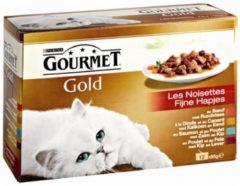 4x Gourmet Gold Multipack Fijne Hapjes Rood 12 x 85 gr