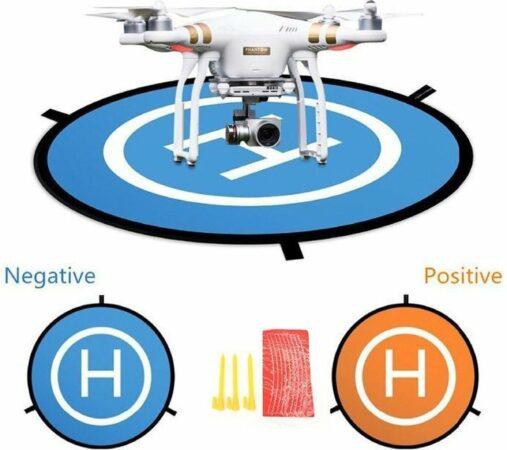Afbeelding van WiseGoods - Opvouwbare Landing Pad Voor Drone - Landingsplaat Voor Drone - Veilig Drone Landen - Drone Accessoires - 55 CM