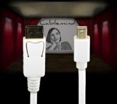 Cablemind Mini DisplayPort/DisplayPort 1080p Kabel, verschiedene Längen Länge: 3 m