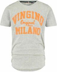 Vingino! Jongens Shirt Korte Mouw - Maat 164 - Grijs - Katoen/elasthan