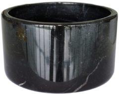 Zwarte TAK Design Serveerkom Carlo - Marmer - Ø11 x 6 cm - Zwart