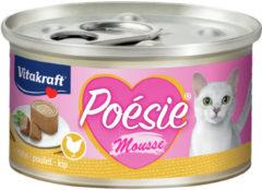 Vitakraft Poésie Mousse Blikje 85 g - Kattenvoer - Kip - Kattenvoer
