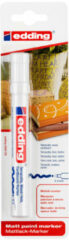 Edding 4000 DECO Deco-marker Wit Ronde vorm 2 - 4 mm 1 stuks