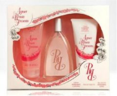 Instituto Espanol Instituto Español Aire de Sevilla Agua de Rosas Frescas Geschenkset 150ml EDT Spray + 150ml Duschgel + 150ml Body Cream