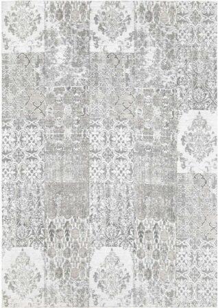 Afbeelding van Licht-grijze Ginore Vintage Vloerkleed Patchwork - Deco Carrara - 280x380 Lichtgrijs Tapijt