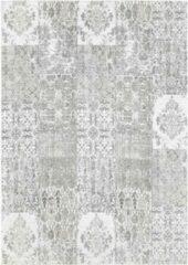 Licht-grijze Ginore Vintage Vloerkleed Patchwork - Deco Carrara - 280x380 Lichtgrijs Tapijt