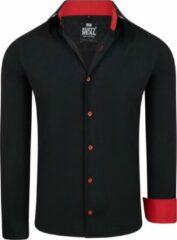 Zwarte Rusty Neal Heren overhemd black series red
