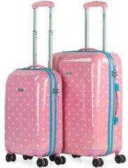 Roze Reiskoffer Skpat Moedervlekken 2 eenheden