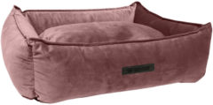 Wooff Mand Cocoon Velours - Roze - Hondenmand - 60 x 40 x 18 cm - Small