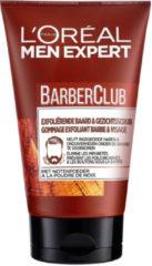 L'Oréal Paris L'Oréal Paris Men Expert Barber Club BarberClub Exfoliërende Baard & Gezichtsscrub - 6 x 100 ml - Gezichtsreiniger tegen ingegroeide haren