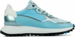 Turquoise Floris van Bommel Vrouwen Leren Sneakers - 85343 - 39