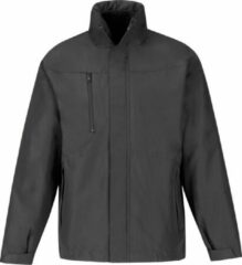 B and C B&C Heren Corporate 3-In-1 Hooded Parka Jacket (Donkergrijs)