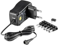 Goobay 67950 Stekkernetvoeding, instelbaar 3 V/DC, 4.5 V/DC, 5 V/DC, 6 V/DC, 7.5 V/DC, 9 V/DC, 12 V/DC 600 mA 7.2 W