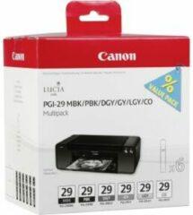 Canon PGI-29 - Inktcartridge / Zwart / Foto Zwart / Grijs / Licht Grijs / Donker Grijs / Pigment Zwart