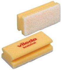 Gele Vileda spons Glitzi Quattro geel pak van 10 stuks