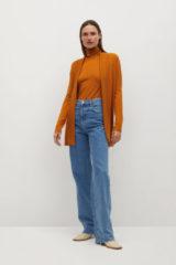 Oranje Mango Fijn Gebreid Vest 87030528 20