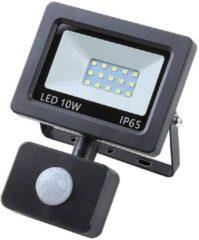 Zwarte Trailer and Tools Hofftech LED Straler / Bouwlamp SMD Met Sensor - 10 Watt - IP65 buitenlamp