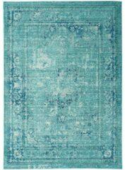 Eazy Living Easy Living - Verve-Medallion-Blue Vloerkleed - 160x250 cm - Rechthoekig - Laagpolig, Vintage Tapijt - Oosters, Retro - Blauw, Grijs