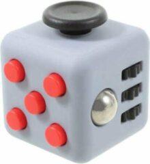 Rheme Fidget Cube - Stressbestendig - Helpt met het focussen. GRIJS/ZWART/ROOD