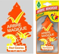 Oranje Arbre Magique Geurboom Auto Luchtverfrisser Fruit Cocktail -Arbe Magique - Wonderboom