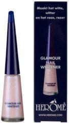 Beige Herôme Herome Glamour Nail Whitener – 10ml. – Alles-in-1 lak voor een schitterende zachtroze parelmoerglans.