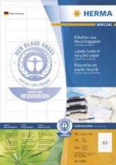 """Herma 10820 etiketten natuurlijk wit 38,1x21,2 a4 van gerecycled papier met blauer engel"""" 6500 st."""""""