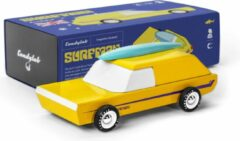 Gele Candylab Toys Candylab - Houten Design Speelgoedauto - Surfman