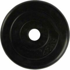 Zwarte Virtufit Rubberen Halterschijf - Halter Gewicht - 30 Mm - 2.5 Kg
