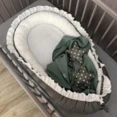 Grijze Babynestje Ruches Antraciet/Wit Dolly