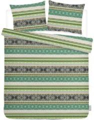 ISeng Jacq - Dekbedovertrek - Tweepersoons - 200x200/220 cm + 2 kussenslopen 60x70 cm - Groen