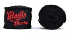 Gladts zwarte kleur bandage-bandages boxing-boksen-kickboksen-mma-muaythai-thaiboksen 460 cm lang