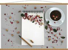 Rode KuijsFotoprint Schoolplaat – Koffiebonen met Kruiden - 120x80cm Foto op Textielposter (Wanddecoratie op Schoolplaat)