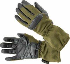 Donkergroene Defcon 5 Handschoenen Nomex/leer Legergroen/zwart Maat Xs