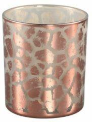 Roze PTMD COLLECTION Ptmd desiree goud glazen theelicht giraffe print - S