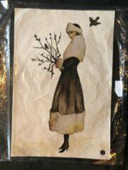 Bruine BePureHome poster prent schilderij zonder lijst beperkt aanbod! Wintertime 47 x 31,5 cm