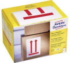 Avery Zweckform 7250 symbool waarschuwings etiketten, 74 x 100 mm, symbool: hier boven, 1 rol/200 etiketten, rood