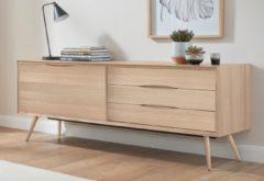 Andas Sideboard »stick« in walnut oder white oak, Breite 200 cm