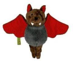 Merkloos / Sans marque Pluche knuffel vleermuis rood 14 cm - knuffeldier