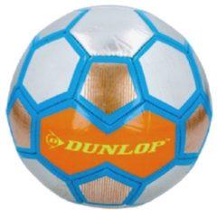Dunlop Voetbal Oranje/zilver/blauw Maat 5