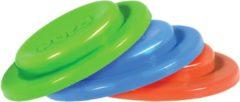 Pura silicone afsluitddisk, 3 stuks per doosje (assortiment kleuren: blauw, groen, oranje)