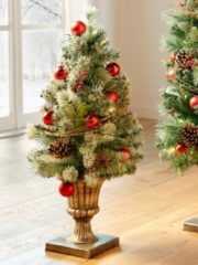 LED Weihnachsbaum im Pokal grün/rot