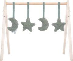 Groene Jollein Babygym toys Moon - ash green
