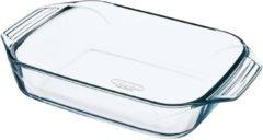 Pyrex Irresistible Ovenschaal Rechthoek - Met Grepen - Borosilicaatglas - 3,8 liter - Transparant