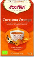 Yogi Tea Curcuma Orange Voordeelverpakking - 6 pakjes van 17 theezakjes