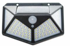 Zwarte Merkloos / Sans marque Solar Sensor Light - Buitenlamp met Bewegingssensor - 100 LEDs - Wit Licht 1 stuk