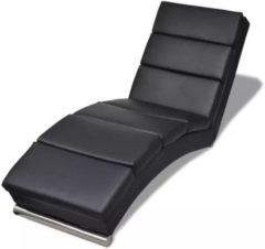 Zwarte VidaXL - Chesterfield - Chaise longue - zwart