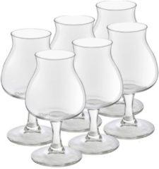 Royal Leerdam 6x Speciaal bierglazen/tulpglazen transparant 250 ml Lund - Bierglas