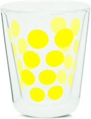 Zak!designs Koffieglas Dot Dot Dubbelwandig 200 Ml Glas Geel