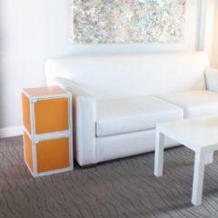 Way Basics Kubussen - Boekenkast - Oranje - zBoard - Set van 2